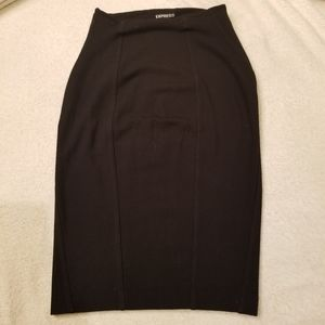 EXPRESS SZ00 BLACK PENCIL SKIRT